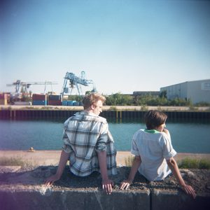 Two sitting and watching the sky